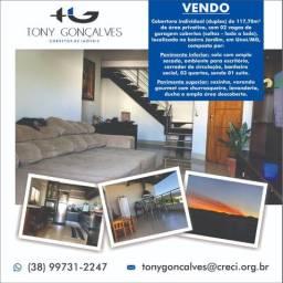 Cobertura individual (duplex) de 117,70m² | 02 Vagas de garagem | Bairro Jardim | Unaí/MG