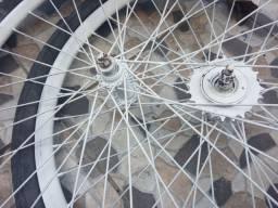 Par de rodas folha aero, aro 26