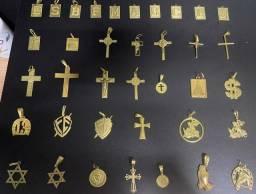 Pingentes de moeda antiga idêntica a ouro com garantia eterna