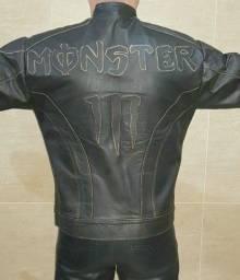 Jaqueta de Couro Monster Energy original G