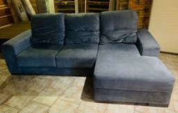 Sofá com chaise retrátil e reclinável