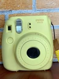 Câmera fujifilm insta mini 8+ case + espelho