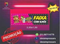 Lona para fachada 3,00x1,00 promoção