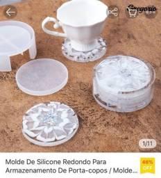 Molde porta copos para resina