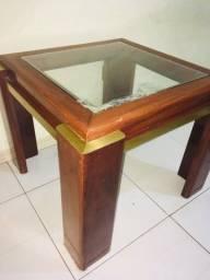 Mesa de centro de madeira maciça(leia a descrição)