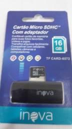 Cartão micro sdhc com adaptador 16gb