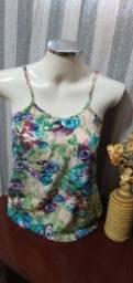 Título do anúncio: Blusa de Alcinha em Viscose Floral  - Tam. M