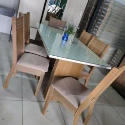 Mesa de Jantar 6 Cadeiras Corolla - Entregamos e montamos na hora