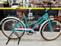 Bike aro 26 retro vintage c/cestinha food bike unissex