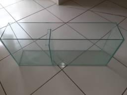 Vendo tanque de vidro 70x15x30cm não usado