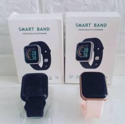 Smartwatch D20 pode colocar foto.