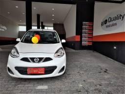 Nissan New March 1.0 3cilindros super economico Branco Perola