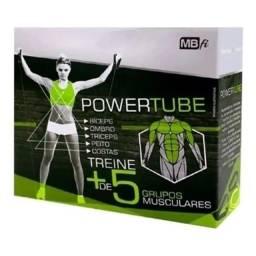 Elástico de tensão Powertube para exercícios nos ombro peito costas