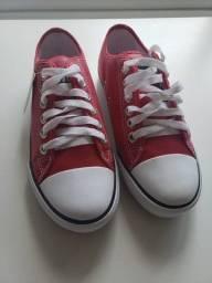 Tênis converse vermelho 37