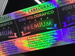 Lacre Void Holográfico original linha Premium