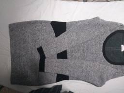vestido cinza  marca Quintess  para frio tamanho M