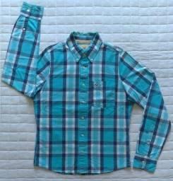 Camisa manga longa masculina, Hollister | Original - Usada