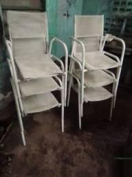 Cadeira de alumínio conjunto com 6 unidade