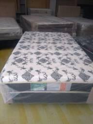 Cama box Viúvo com 10 cm espuma 1,20x 1,88 - Novo