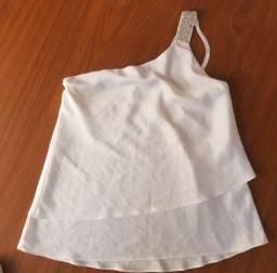 Blusinha branca linda M/G