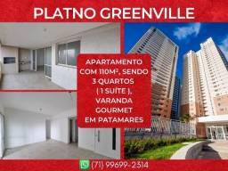 Platno Greenville, 3 quartos em 110m² com 2 vagas em Patamares - Maravilhoso