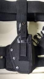 Suporte tático modelo Robocop + Cinto de guarnição