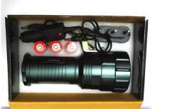 Lanterna Tática Holofote De Mão Led T6 Potente Com Regulagem De Foco 181