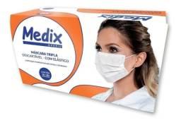 Máscara Descartável Tripla C/elástico Medix