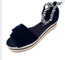 Flat sandália amarração nova