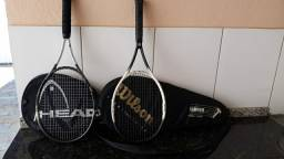 2 Raquete de tênis com bolsa
