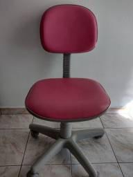 Cadeira Secretária Giratória<br>Rosa