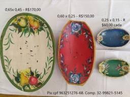Lote 04 gamelas pintadas