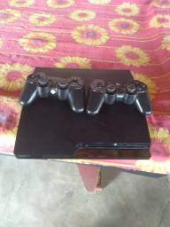 playstation 3  semi novo com 2 controles