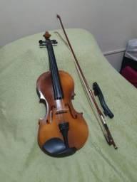 Violino Acústico 4/4 Arco Espaleira Cavalete Mdf Estojo Luxo