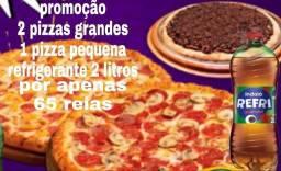 Pizza+Refrigerante 2 litros grátis