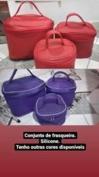 Conjunto de frasqueiras de silicone 100% impermeável
