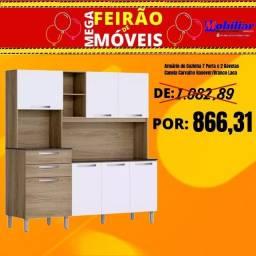 """Armário de cozinha """"Itatiaia"""" 7 portas 2 gavetas"""