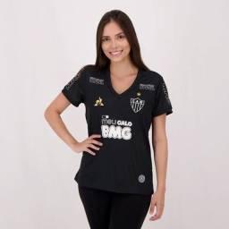Camisa Feminina do Atlético preta - Le Coq