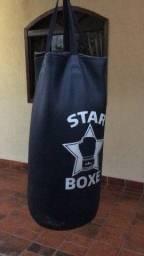 Saco de boxe couro