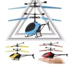Mini helicóptero com sensor
