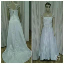 Vestido de Noiva Rendado Branco