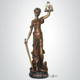 Deusa da Justiça 50 cm Decoração Enfeite Escultura