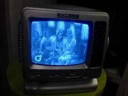 Televisão Analógica 5' (cinco Polegadas) Vhf/uhf Preto/branco - Bivolt - marca Excess