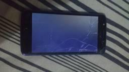 Moto E4 caiu e so fica com essa tela preta