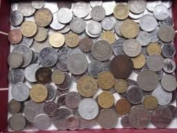 (3) lote de moedas variadas