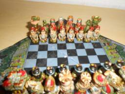 Só hoje - Mini Jogo de Xadrez Peças em Cerâmica Personalizado