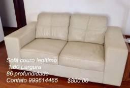 Sofa de couro cor creme