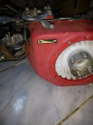 Vendo motor estacionario branco 5.5 163 cc falta so tampa de oleo e limpar o tanque