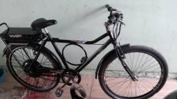 Bicicleta elétrica andando superbem, baterias novas, parcelo!