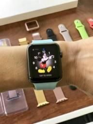 Lindo Apple Watch Série 1! Zerado! 42mm! E com 10 pulseiras! Leia mais! Fotos!